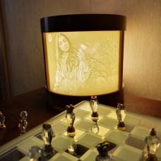 Лампа-ночник с литофанами