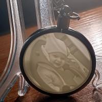 Брелок-литофан круглый с индивидуальным изображением (40x40 мм)